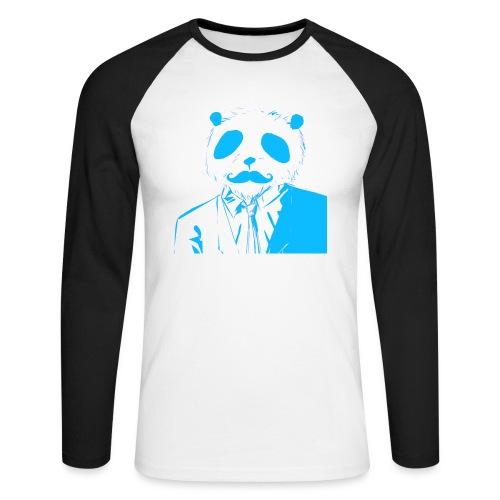 BluePanda Logo - Men's Long Sleeve Baseball T-Shirt