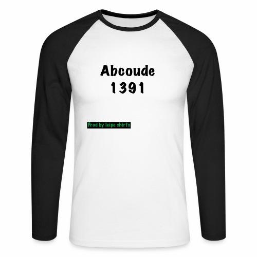 Abcoude post code merk - Mannen baseballshirt lange mouw