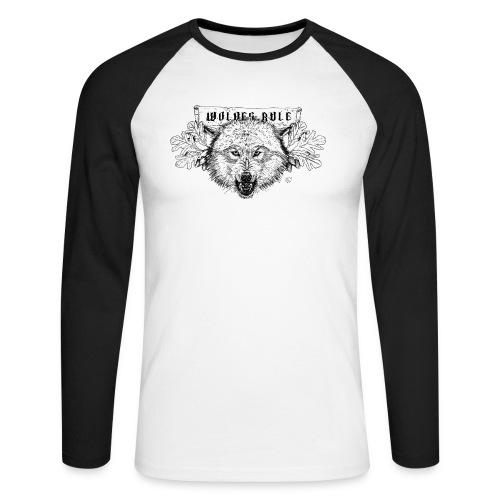 wolves-rule - Men's Long Sleeve Baseball T-Shirt