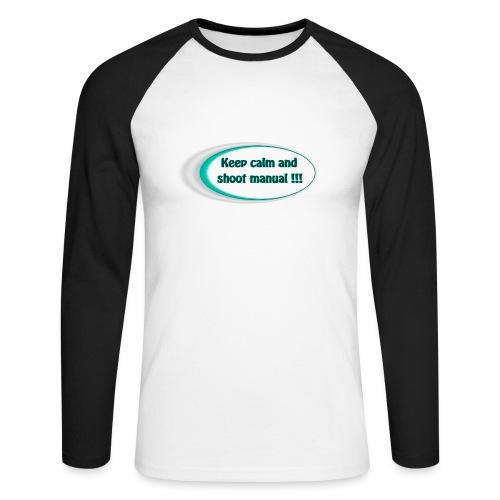 Keep calm and shoot manual slogan - Men's Long Sleeve Baseball T-Shirt