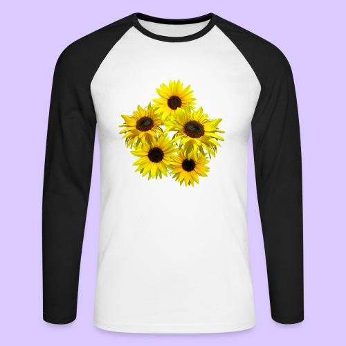 Sonnenblumenstrauss, Sonnenblume, Sonnenblumen - Männer Baseballshirt langarm