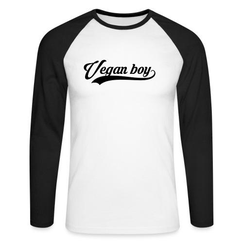 Vegan boy Black - T-shirt baseball manches longues Homme