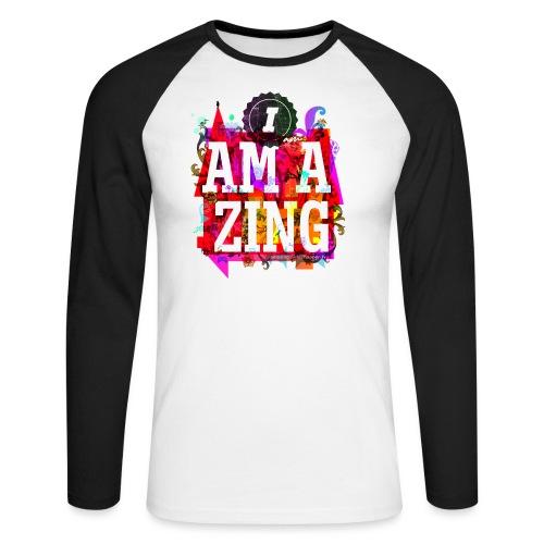 I am Amazing - Men's Long Sleeve Baseball T-Shirt
