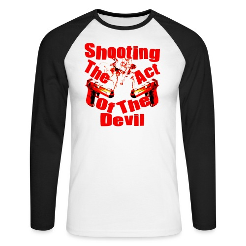 Shooting The Act Of Devil - T-shirt baseball manches longues Homme