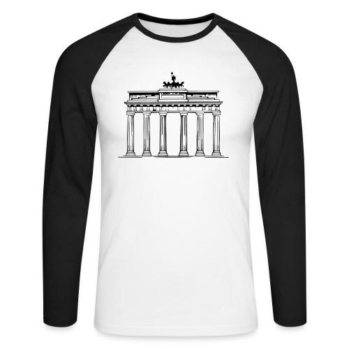 Brandenburger Tor Berlin Victoria Streitwagen - Männer Baseballshirt langarm
