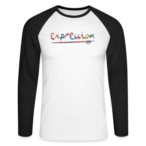 Expression typography - Men's Long Sleeve Baseball T-Shirt