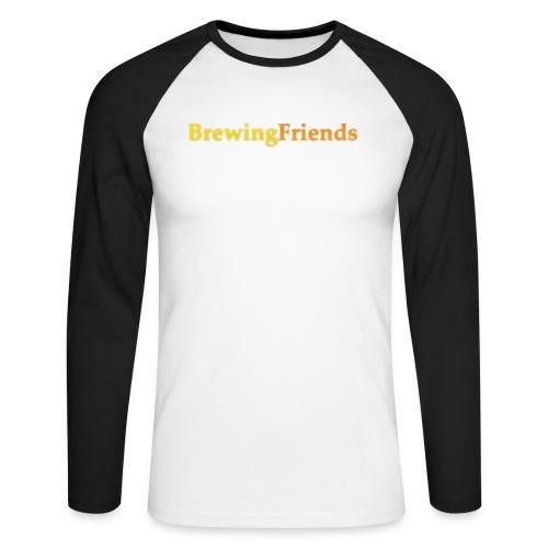 BrewingFriends con ombra png - Maglia da baseball a manica lunga da uomo