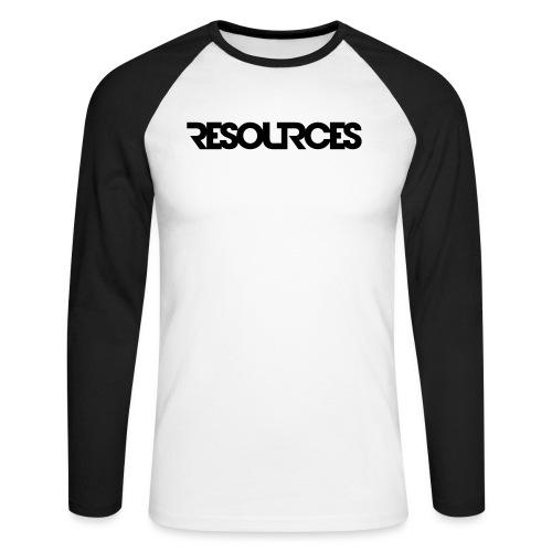RESOURCES LOGO Schriftzug - Männer Baseballshirt langarm
