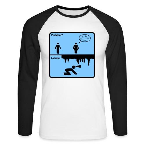 Problem_Loesung2 - Männer Baseballshirt langarm