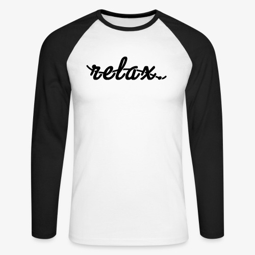 Relax Logo Black - Men's Long Sleeve Baseball T-Shirt