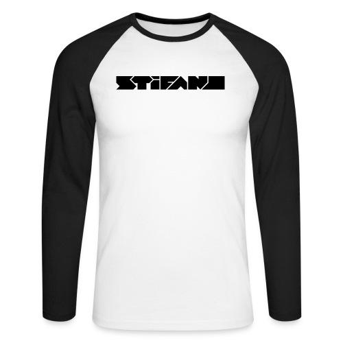 Logo Stifano versie 01 BLACK 1500px png - Mannen baseballshirt lange mouw