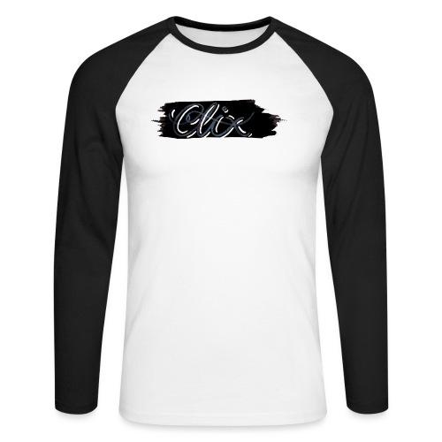 CLIXMUSIC020 png - Langermet baseball-skjorte for menn
