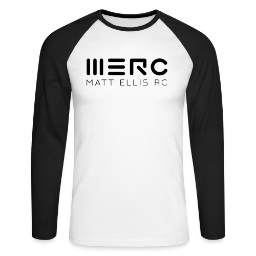 merc bw - Men's Long Sleeve Baseball T-Shirt