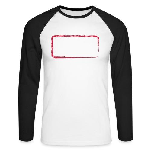 backrahmen28 - Männer Baseballshirt langarm