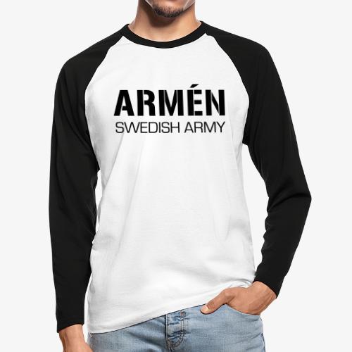 ARMÉN -Swedish Army - Långärmad basebolltröja herr