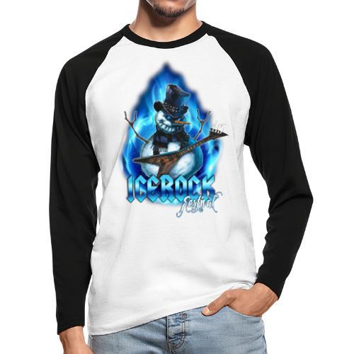Snowman Evil - Männer Baseballshirt langarm