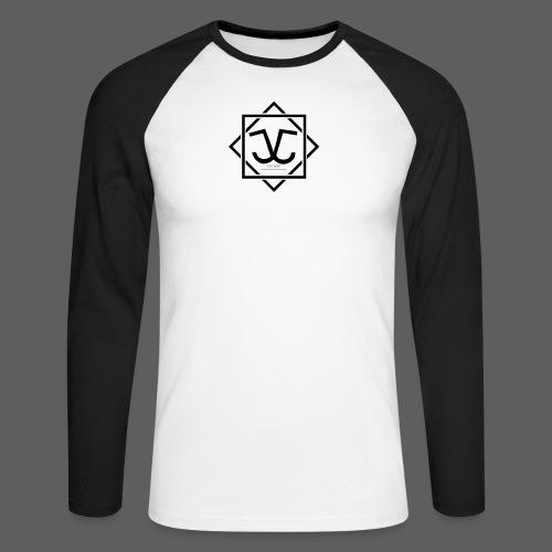 Logo Schwarz - Männer Baseballshirt langarm