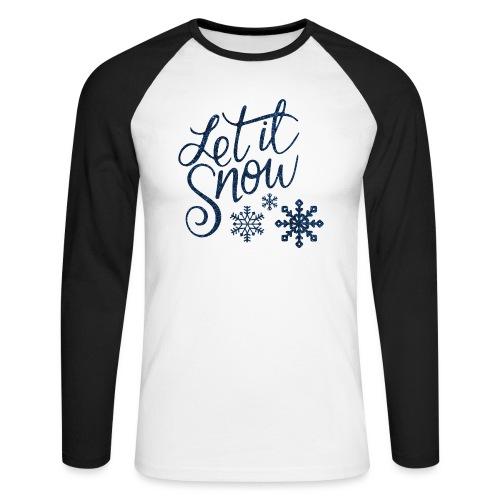 Let il snow Noël New shape fane design vintage - T-shirt baseball manches longues Homme
