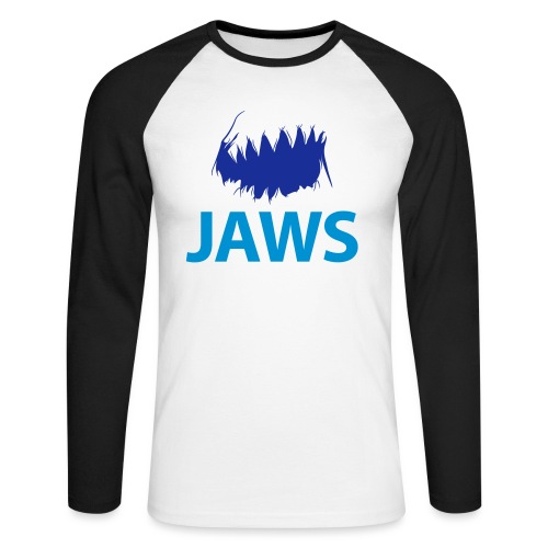 Jaws Dangerous T-Shirt - Men's Long Sleeve Baseball T-Shirt