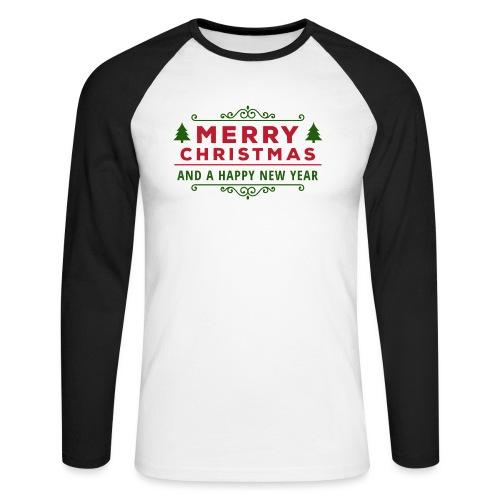 merry christmas, christmas present, christmas tree - Men's Long Sleeve Baseball T-Shirt