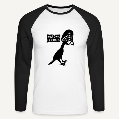 wronaskonaduza - Koszulka męska bejsbolowa z długim rękawem