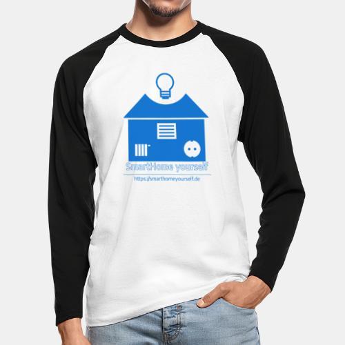 SmartHome yourself Logo Groß - Männer Baseballshirt langarm