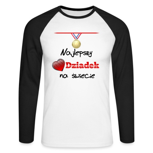 nadruk_rodzinne_01 - Koszulka męska bejsbolowa z długim rękawem
