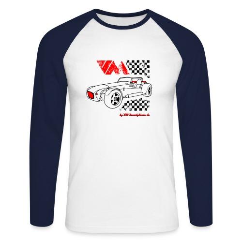 77 vm schwarz - Männer Baseballshirt langarm