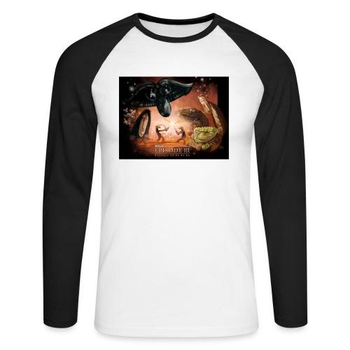 starwilq - Koszulka męska bejsbolowa z długim rękawem