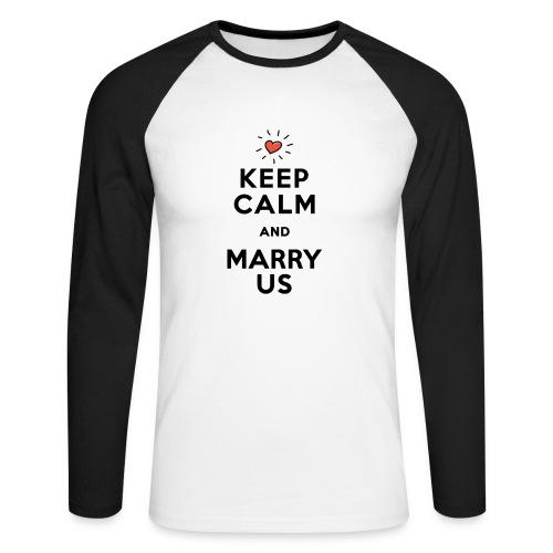 MARRY US - Männer Baseballshirt langarm