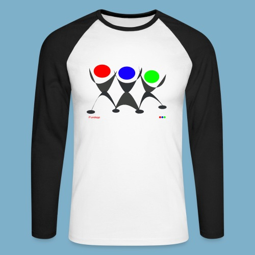 Fundago Logo - Männer Baseballshirt langarm