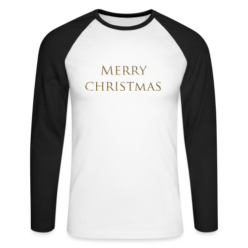 merry christmas - T-shirt baseball manches longues Homme