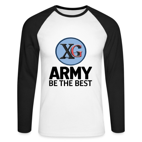 xg-logo-army - Men's Long Sleeve Baseball T-Shirt