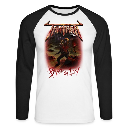 based on evil tshirt white - Langermet baseball-skjorte for menn