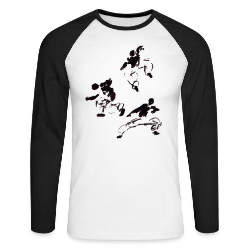 3 kungfu - Men's Long Sleeve Baseball T-Shirt