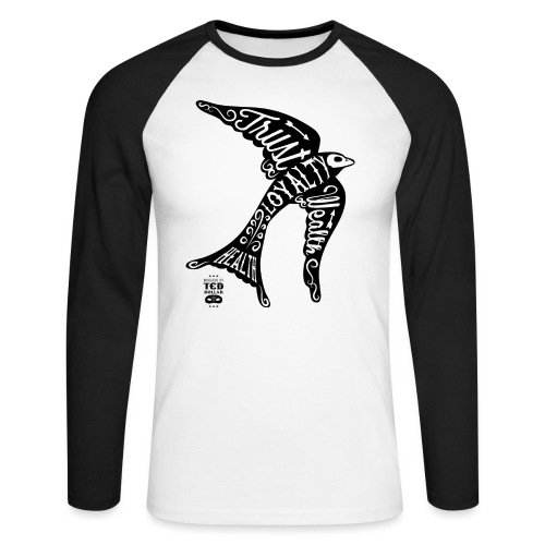Black Face Swallow - T-shirt baseball manches longues Homme
