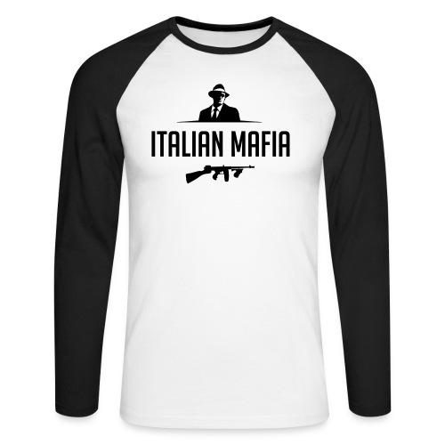 italian mafia - Maglia da baseball a manica lunga da uomo