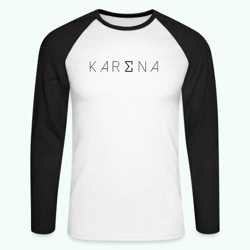 Karena Logo - Men's Long Sleeve Baseball T-Shirt