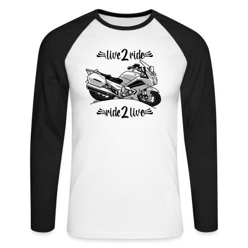 0964 live 2 ride ride 2 live - Mannen baseballshirt lange mouw