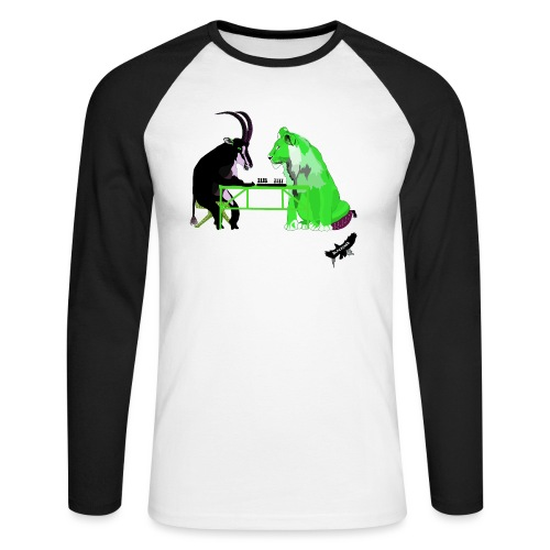 Playing Senet by BlackenedMoonArts, green w. logo - Langærmet herre-baseballshirt