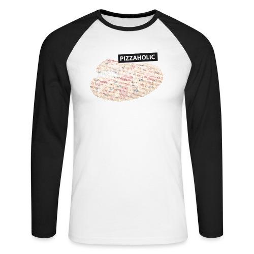 Pizzaholic - Langermet baseball-skjorte for menn