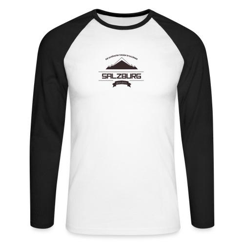 Salzburg-Wandern Logo - Männer Baseballshirt langarm