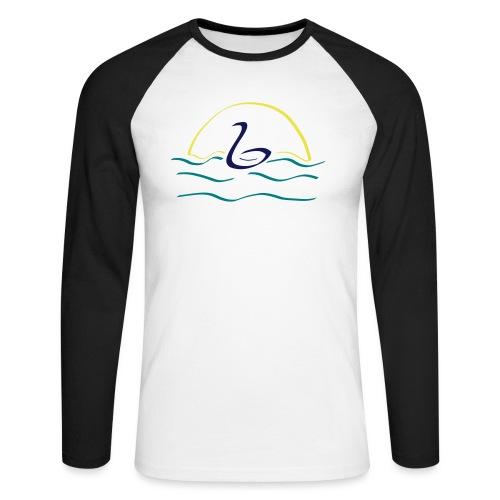 Swan - Mannen baseballshirt lange mouw