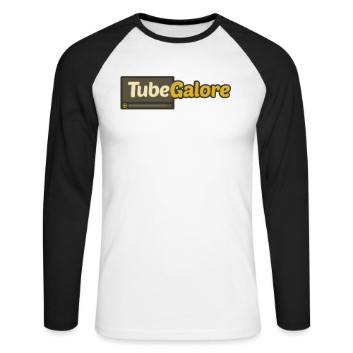 tubegalore design - Men's Long Sleeve Baseball T-Shirt