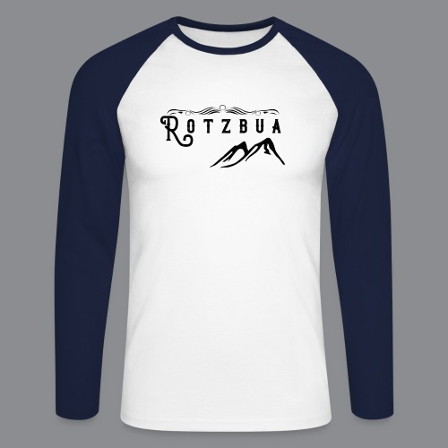 Rotzbua - Männer Baseballshirt langarm