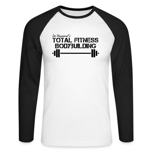 black white barbell png - Men's Long Sleeve Baseball T-Shirt