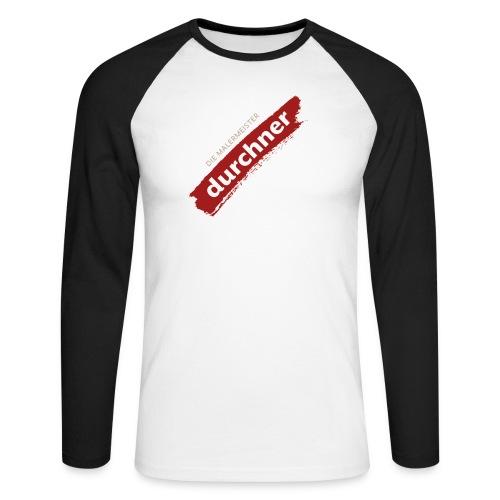 vorne oder hinten schräg - Männer Baseballshirt langarm