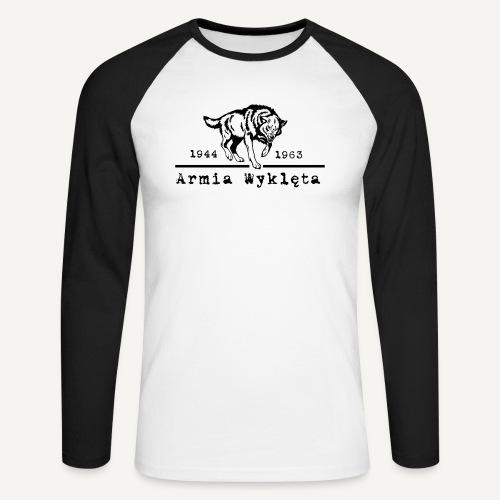 wilk i armia wyklęta1 - Koszulka męska bejsbolowa z długim rękawem
