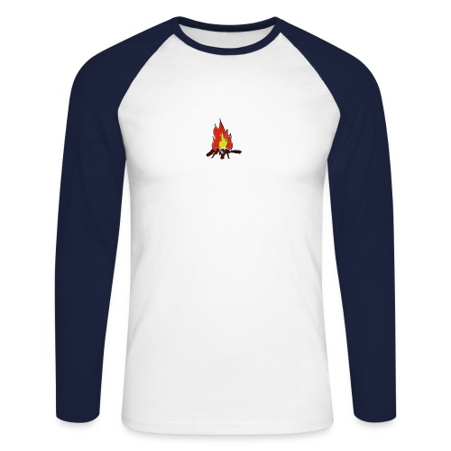 Fire color fuoco - Maglia da baseball a manica lunga da uomo