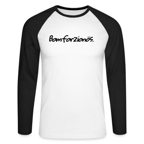 Bomforzionös schwarz einzeilig - Männer Baseballshirt langarm